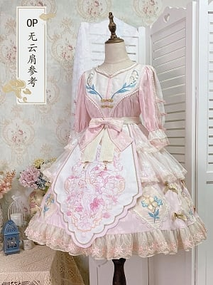 Little Lily of The Valley Qi Lolita Dress OP by Jellyfish Lolita