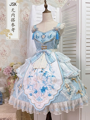 Little Lily of The Valley Qi Lolita Dress JSK by Jellyfish Lolita