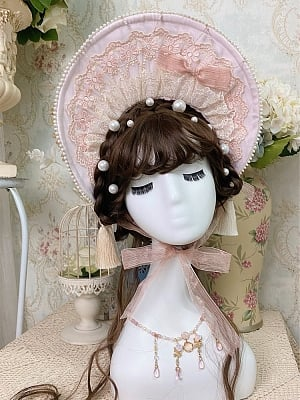 Little Lily of The Valley Series Matching Collar / Bonnet / Hairband / Back Bowknot by Jellyfish Lolita