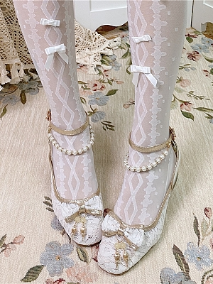 Little Lily of The Valley Qi Lolita Shoes by Jellyfish Lolita