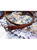 Rural Wind Leather Woven belt by Jewelry Sunrise