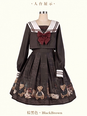 The British Journey Sailor Collar Lolita Dress OP by KIHOLS