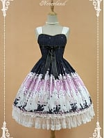 Custom Size Available Natural Waist Bowknot Decoration And Lace Hemline Lolita JSK - Kurfü by Souffle Song