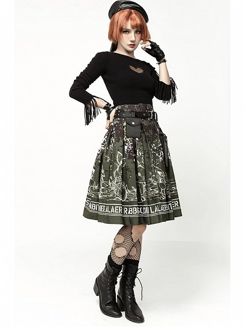 Rabbit Soldier Skirt by LAERS