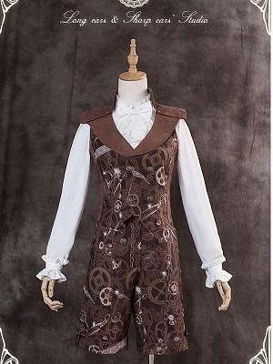 Machine Maze Lace-up Back Waistcoat by Long Ears And Sharp Ears