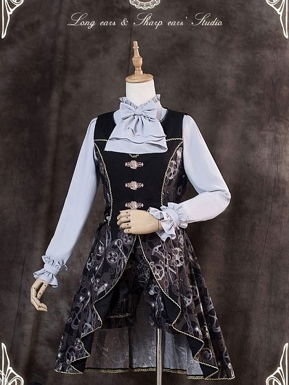 Machine Maze Open Front Waistcoat by Long Ears And Sharp Ears