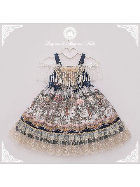 Camelot's Bazaar Kids Lolita JSK and Cape Set by Long Ears and Sharp Ears