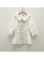 Sweet Lolita Peter Pan Collar Blouse by Little Dipper