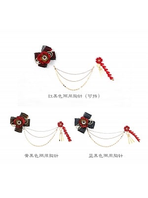 Huashigu Brooch and Hairclip by Lda