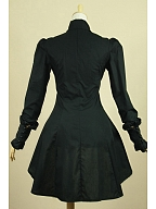 Victorian Gothic Steampunk Clothing Flounce Hemline Blouse by Lace Garden
