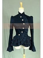 Victorian / Edwardian Riding Jacket with Ruffled Hem by Lace Garden