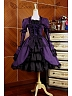 Gothic Lolita Dress / Lolita OP with Layered Skirt and Removable Long Sleeves by Lace Garden
