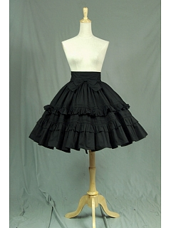 High Quality Victorian  High-Waist  Flounce Decorated Skirt by Lace Garden