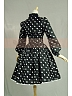 High Quality Vintage Black&White Dots Shawl and Spagetti Straps Dress by Lace Garden