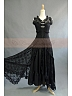 Gothic Victorian  Full Lace V-Neck Sleeveless Long Dress by Lace Garden