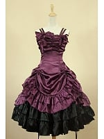 Vintage Dress Southern Belle Ball Gown Spaghetti Straps Dress by Lace Garden