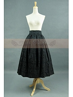 Vintage Jacquard Ball Gown High Waisted  Floral Skirt by Lace Garden