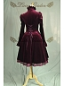 Custom Size Available High Quality Vintage Puff Sleeves Ruffled Jabot Velvet Dress Theater Costume by Lace Garden