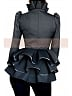 Custom Size Available Victorian Gothic Woolen Flounce Hemline Stand-Up Collar Jacket and Pencil Skirt by Lace Garden