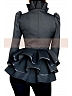 Victorian Gothic Woolen Flounce Hemline Stand-Up Collar Jacket and Pencil  Skirt by Lace Garden