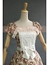 Lolita Vintage Floral Flounce Decorated Short Sleeves Dress by Lace Garden