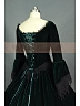 Victorian  Premium Velvet Jacquard Pattern Dress Theater Costume  by Lace Garden