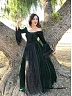 Custom Size Available Victorian  Premium Velvet Jacquard Pattern Dress Theater Costume  by Lace Garden