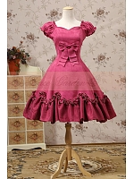 Retro Princess Flounce Hemline Ball Gown Knee Length  Dress by Lace Garden
