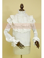 Royal Long Sleeves  Lace  Applique Decorated  Blouse by Lace Garden