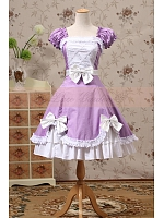 Lolita Premium  Princess  Ruffled Neckline Lace Up  Dress Theater Costume by Lace Garden