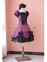 Victorian Lolita Ruffle Knee Length Short Sleeve Dress by Lace Garden