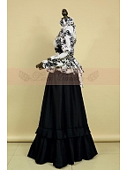 Victorian Retro Irregular Pattern Open Front Print Jacket Theater Costume by Lace Garden