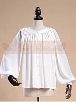 Custom Size Available Victorian Retro Long Sleeves Oversized Blouse by Lace Garden