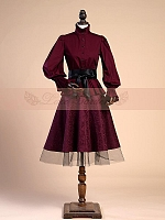 Aulic Puff Sleeve Blouse and Skirt Set by Lace Garden
