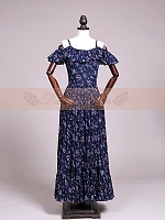 Floral Dark Blue Open Shoulder OP by Lace Garden