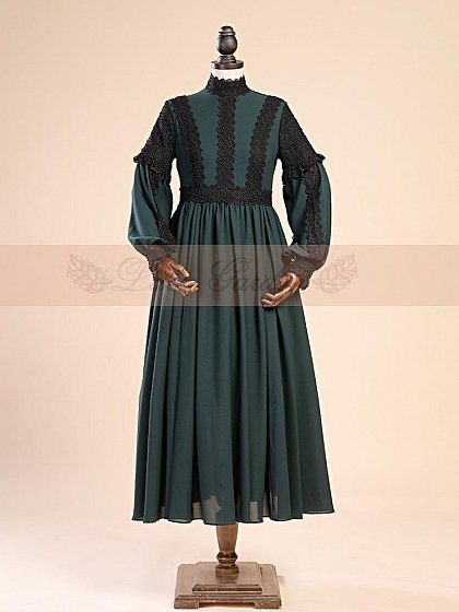 Middle Ages Style Ankle Length Chiffon Gown by Lace Garden