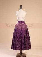 Brocade Pattern Long Skirt by Lace Garden