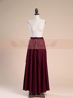 Summer Gothic Three Lace-Up Long Skirt by Lace Garden