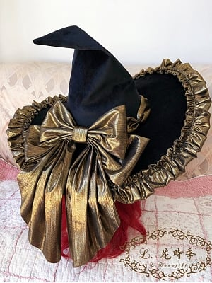 Brilliant Long Night Witch's Banquet Halloween Lolita Witch Hat by LHSJ
