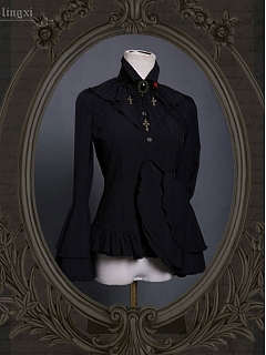 Elegant Gothic Lolita Odile Blouse by Ling Xi