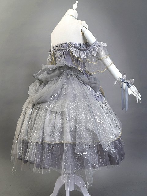 Glorious Moon Sea Classic Lolita Dress JSK Matching Tulle Overlay by Ling Xi