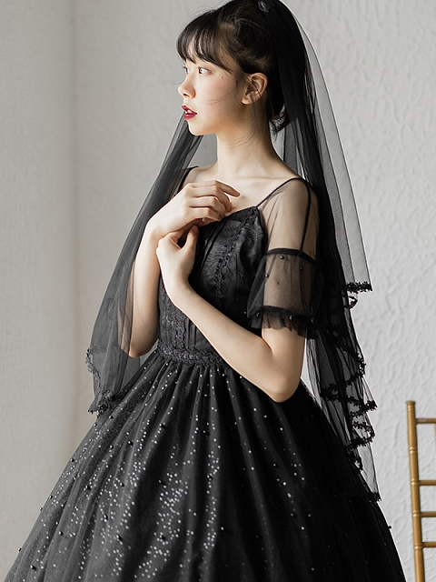 Elegant Summer Night Dating JSK Matching Veil by Lambkin Planet