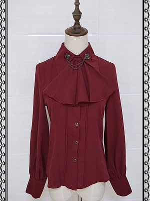 Retro Tie Collar Blouse By Lucky Star