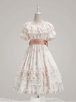 Elegant Blooming-Rococo Lolita Dress OP by Lullaby