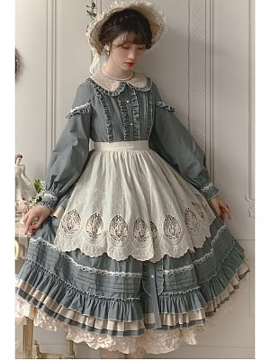 Ever-changing Girl Classic Lolita Apron by LNYM