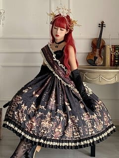 The Palace of Sin Gothic Lolita Dress JSK Long Version by Life Like A Dream