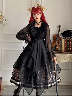 The Palace of Sin Gothic Lolita JSK Matching Overdress by Life Like A Dream