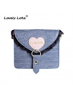 Lace Trim Foldover Crossboday Bag Five Colors Available