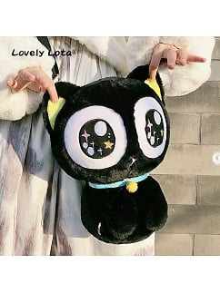 Cute Black Kitty Luo Xiaohei Two Ways Wearing Bag