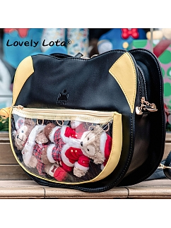 Cute Black Kitty Luo Xiaohei Shaped Bag